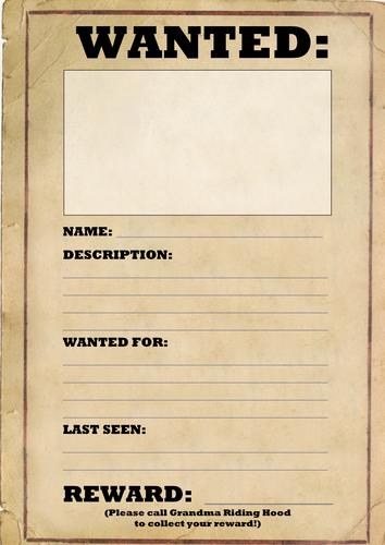 Wanted Poster Template Pdf Elegant Wanted Poster Template by Joeroberts89