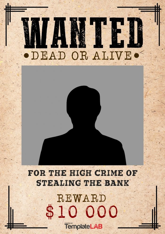 Wanted Poster Template Pdf Fresh 29 Free Wanted Poster Templates Fbi and Old West