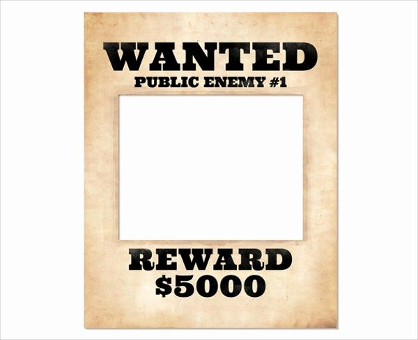 Wanted Poster Template Pdf Fresh Wanted Poster Template