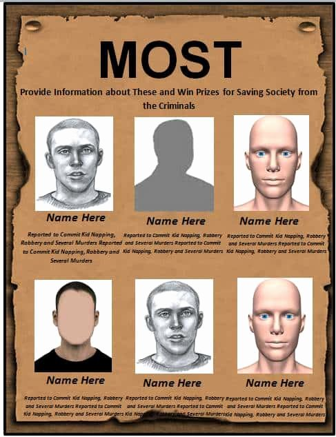 Wanted Poster Template Pdf Lovely 7 Free Wanted Poster Templates Pdf Word