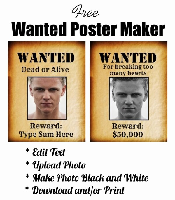 Wanted Poster Template Pdf New Free Wanted Poster Maker