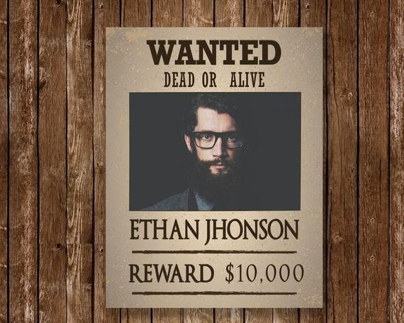 Wanted Poster Template Pdf New Wanted Poster Template Wanted Poster Template Pdf Wanted