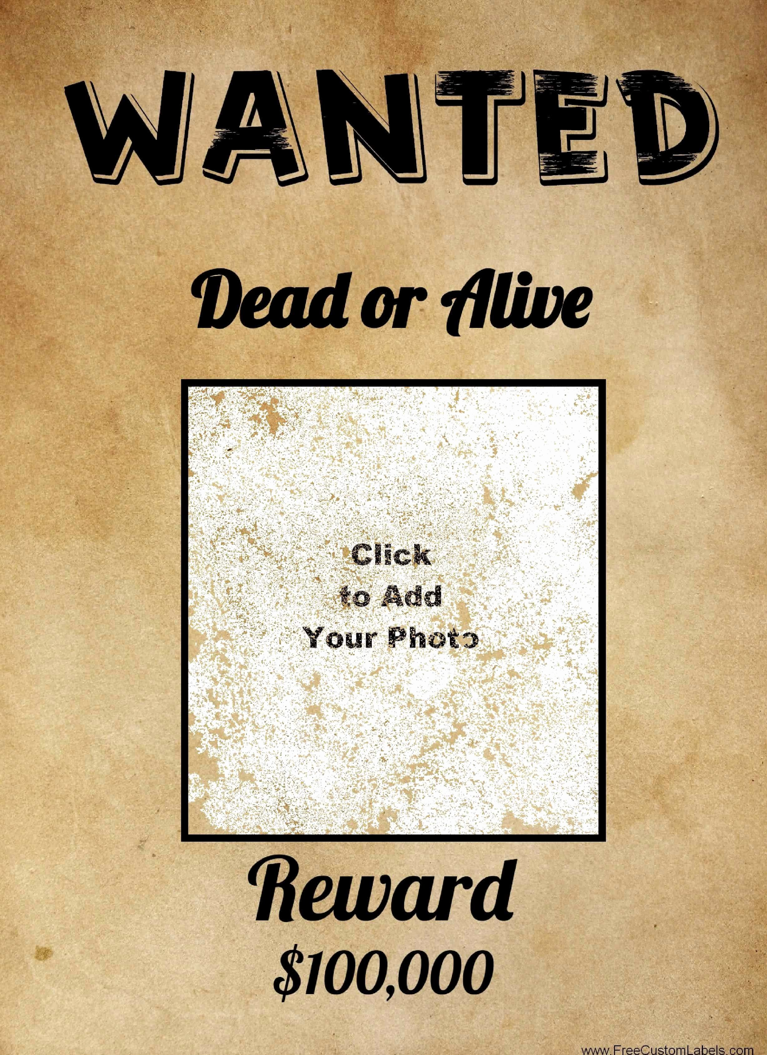 Wanted Poster Template Pdf Unique Free Wanted Poster Maker