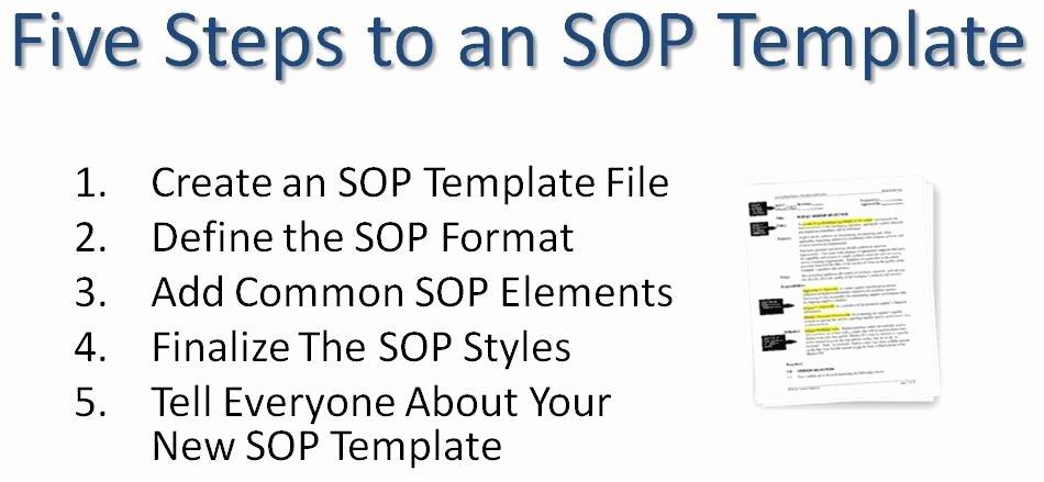 Warehouse Standard Operating Procedures Template Beautiful Writing Standard Operating Procedures Writing sop