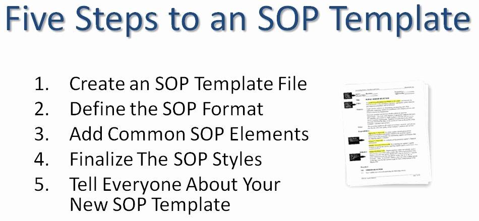 Warehouse Standard Operating Procedures Template Best Of Writing Standard Operating Procedures Writing sop