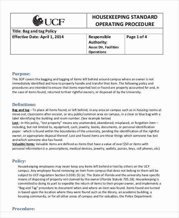 Warehouse Standard Operating Procedures Template Elegant 35 sop Templates In Pdf
