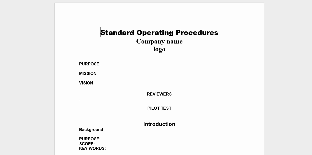 Warehouse Standard Operating Procedures Template New 20 Free sop Templates to Make Recording Processes Quick