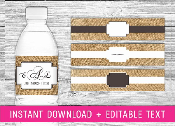 Water Bottle Labels Template Best Of Free 22 Sample Water Bottle Label Templates In Psd