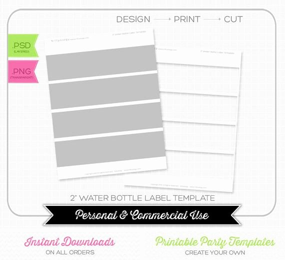 Water Bottle Labels Template Best Of Water Bottle Label 2 Inch Template Instant Download
