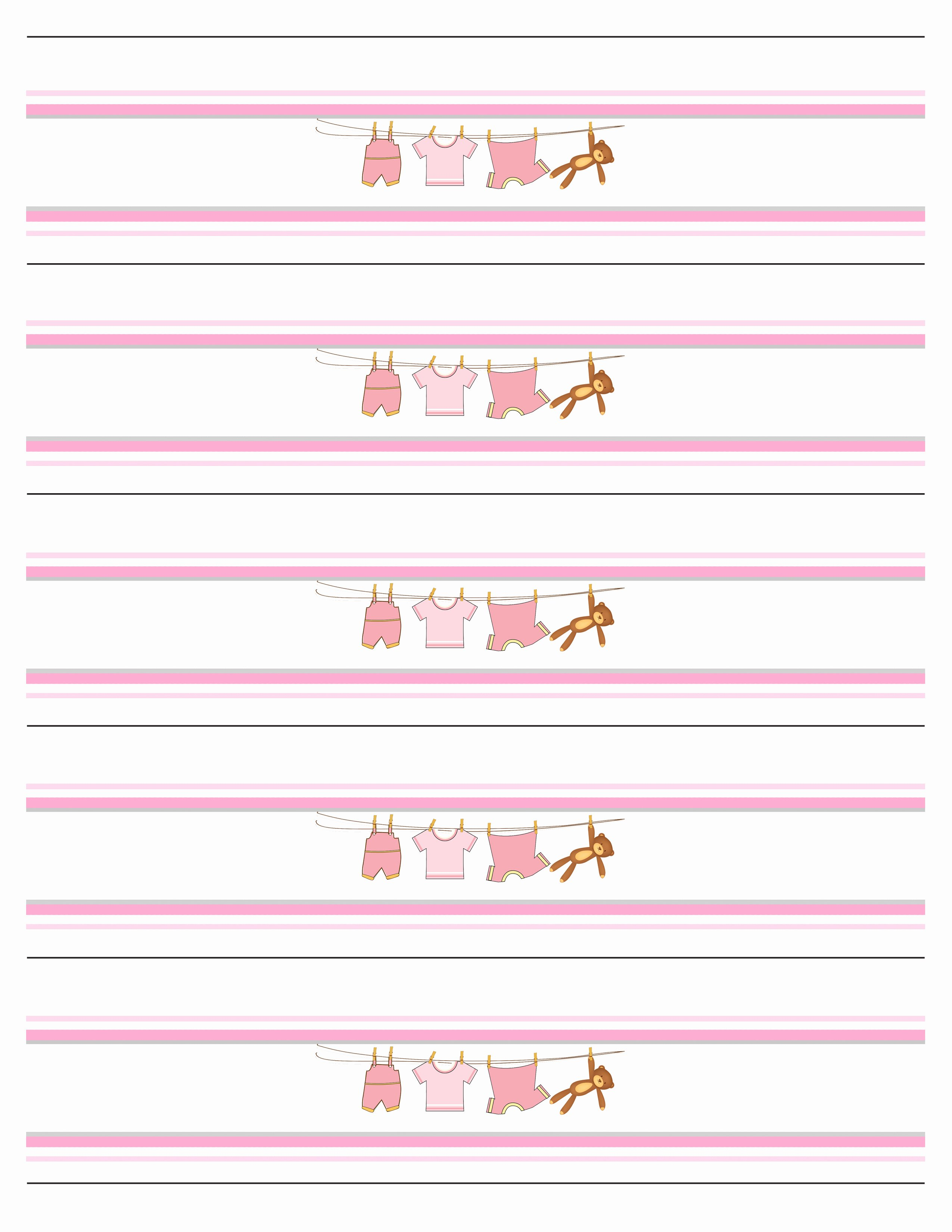Water Bottle Labels Template New Baby Girl Shower Free Printables How to Nest for Less™