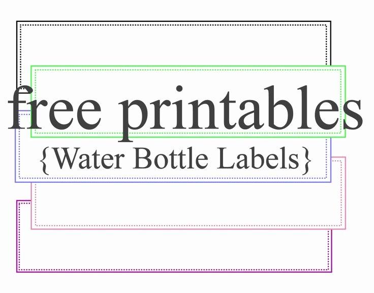 Water Bottle Labels Template New Free Water Bottle Label Template