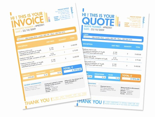 Web Design Quote Template New 10 Creative Invoice Template Designs