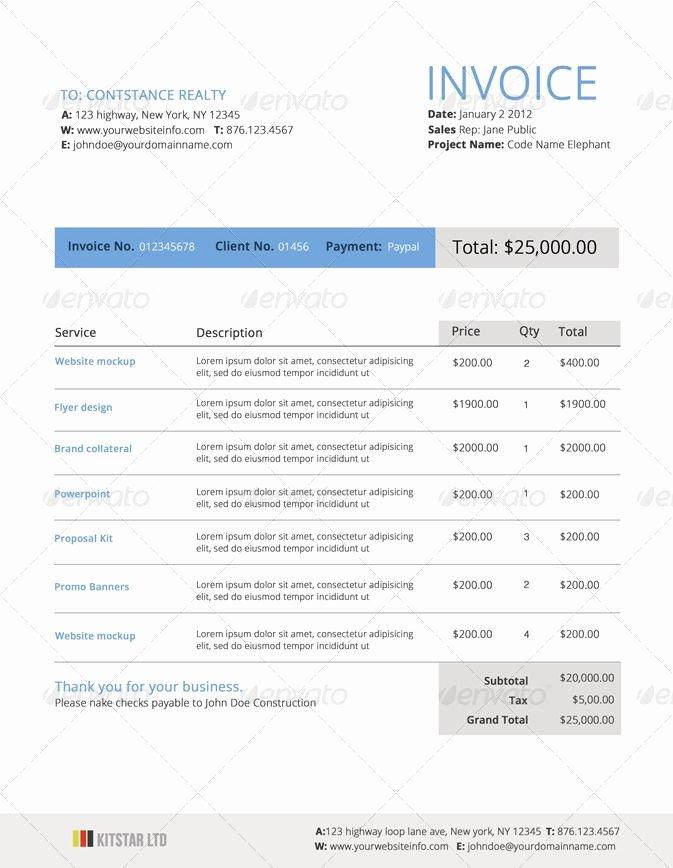 Web Design Quote Template New Invoice Graphic Design Invoice Beautifulinvoice