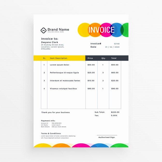 Web Design Quotes Template Fresh Invoice Design Vectors S and Psd Files