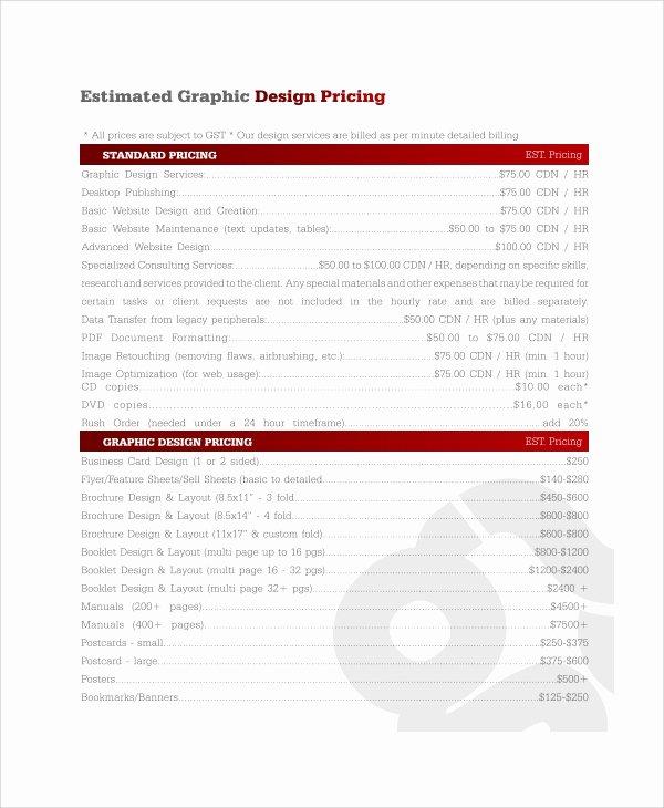 Website Design Quote Template Unique Sample Graphic Design Quote Template 7 Free Documents
