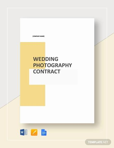 Wedding Band Contract Template Elegant 10 Graphy Contract Templates Free Sample Example