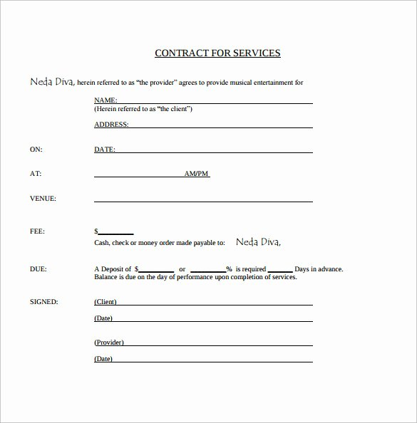 Wedding Band Contract Template Lovely Sample Music Contract Template 22 Free Documents In Pdf