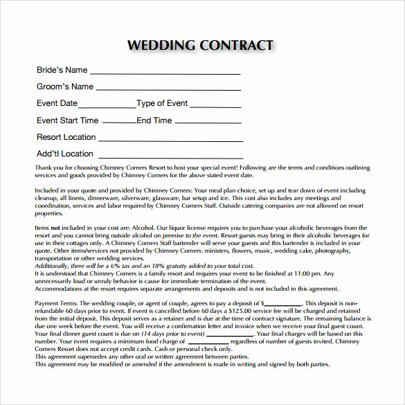Wedding Dj Contract Template Luxury Dj Contract Templates