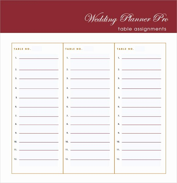 Wedding Guest List Template Pdf Best Of Free 6 Wedding Guest List Samples In Pdf