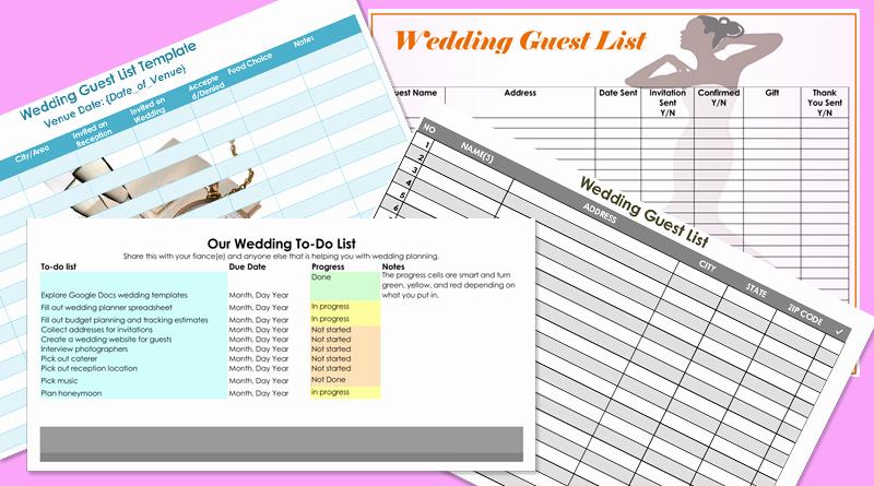 Wedding Guest List Template Pdf Fresh Free Wedding Guest List Templates for Word and Excel