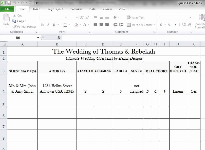 Wedding Guest List Template Pdf Unique 17 Wedding Guest List Templates Excel Pdf formats