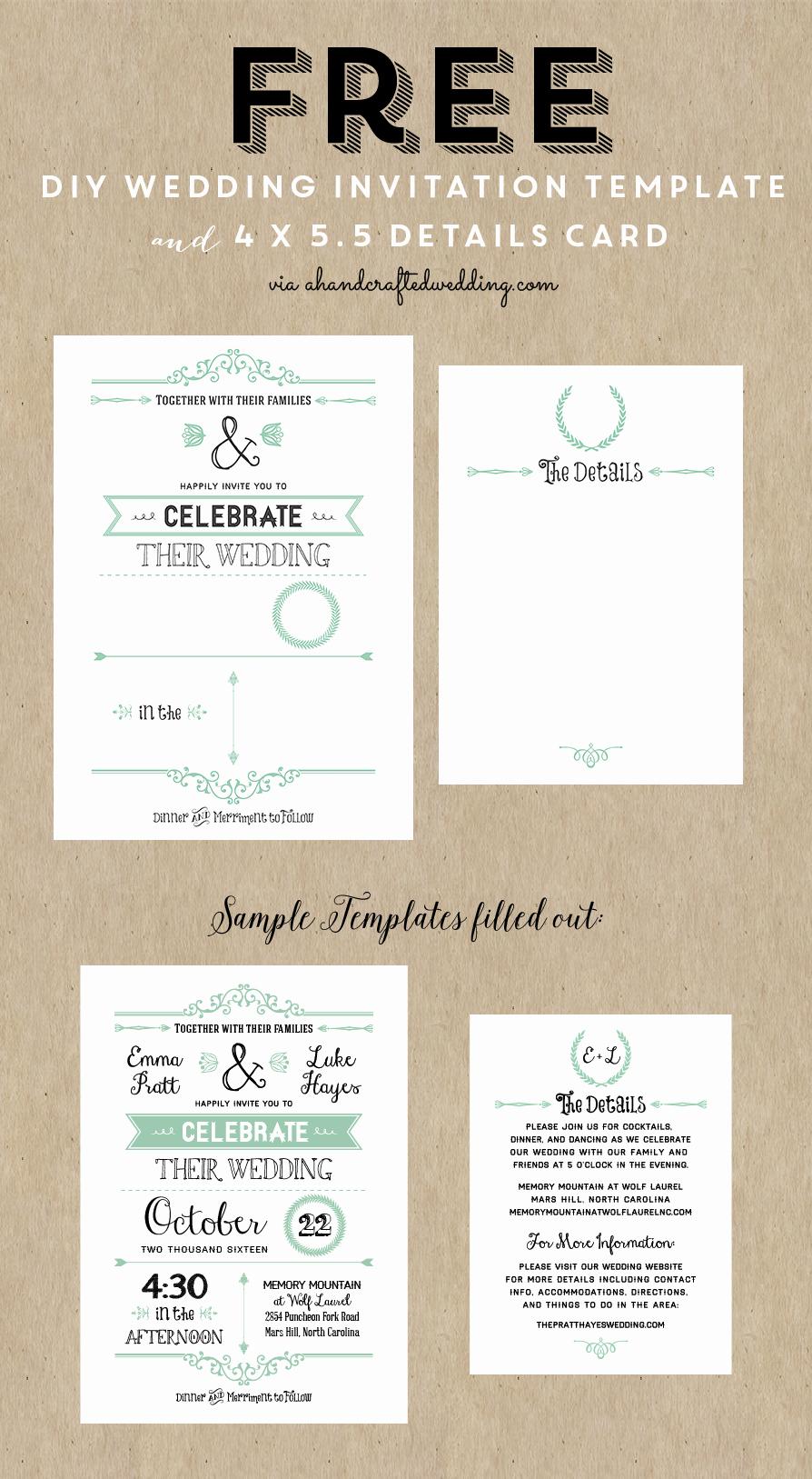 Wedding Invite List Template Elegant Best 25 Free Wedding Invitation Templates Ideas On