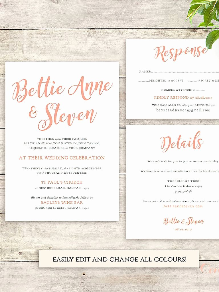 Wedding Invite List Template Lovely 16 Printable Wedding Invitation Templates You Can Diy