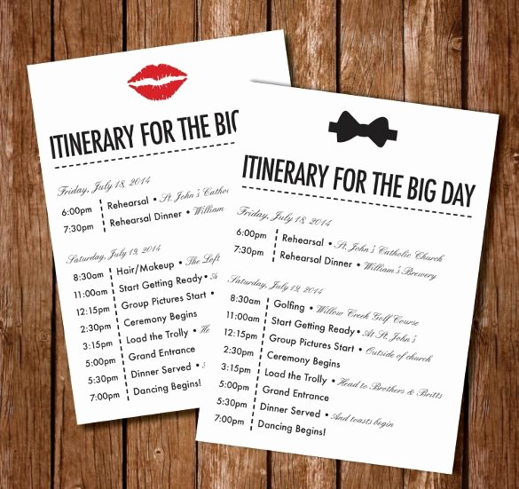 Wedding Itinerary Template Free Elegant Best 25 Wedding Itinerary Template Ideas On Pinterest
