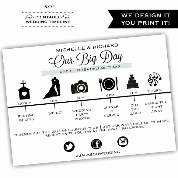 Wedding Itinerary Template Free Elegant Wedding Timeline Template – 35 Free Word Excel Pdf Psd