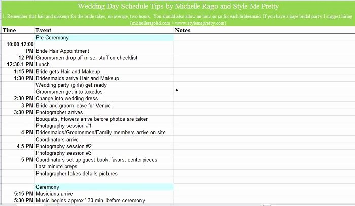 Wedding Itinerary Templates Free Awesome 37 Free Beautiful Wedding Guest List & Itinerary Templates