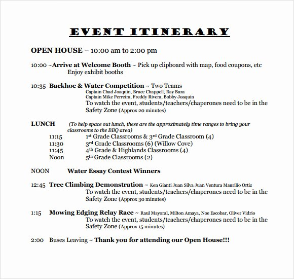 Wedding Itinerary Templates Free Awesome Free 9 Sample event Itinerary Templates In Pdf Word