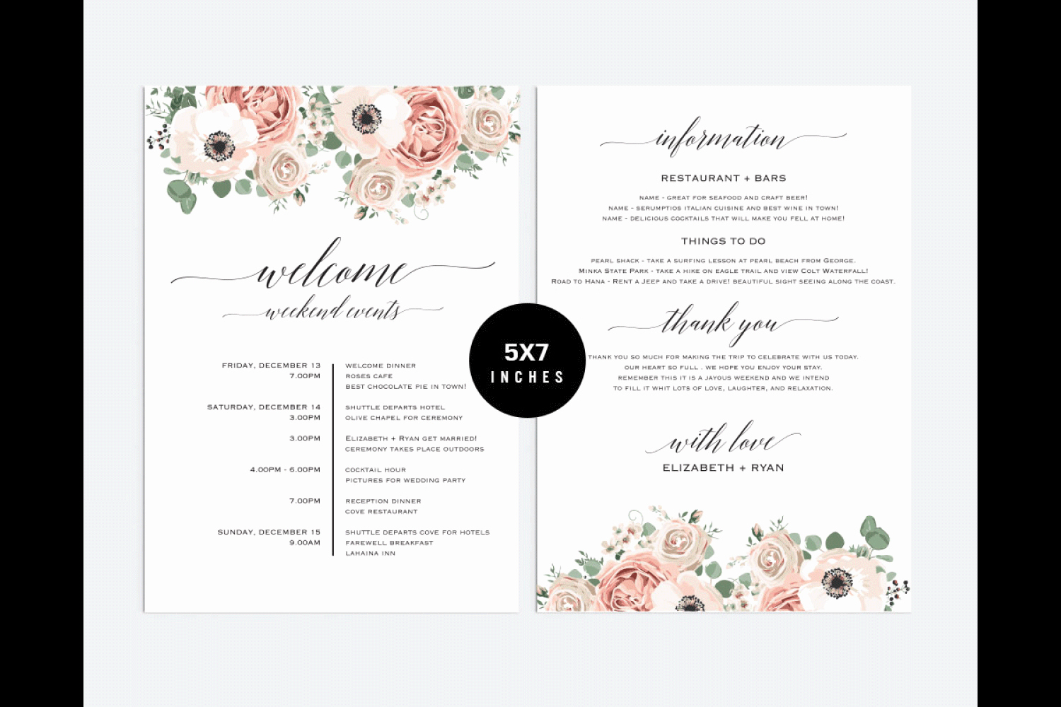 Wedding Itinerary Templates Free Awesome Wedding Itinerary Template Pcc 5