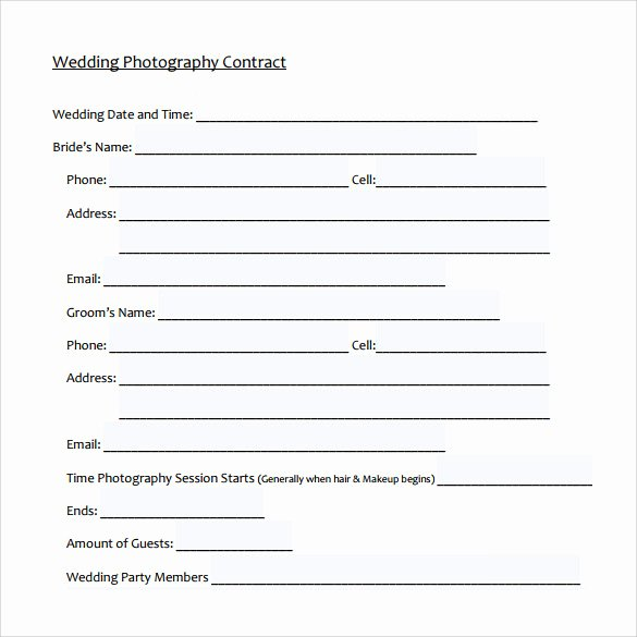 Wedding Photography Contract Template Word Luxury 14 Wedding Graphy Contract Template 14 Download
