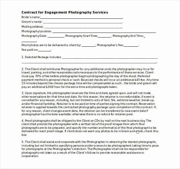 Wedding Photography Contract Template Word New Graphy Contract Template – 20 Free Word Pdf