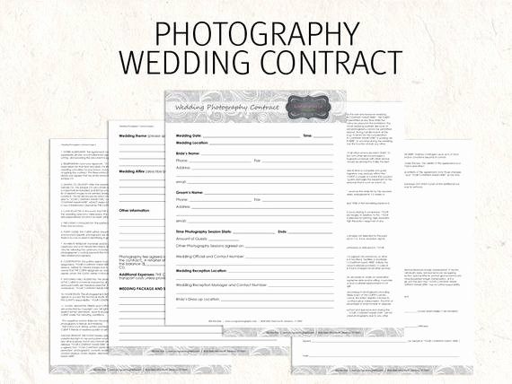 Wedding Photography Contract Template Word New Wedding Graphy Contract Business forms by