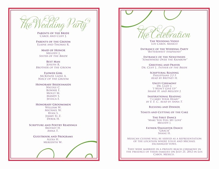 Wedding Reception Itinerary Template Awesome Wedding Itinerary Templates Free