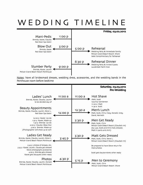 Wedding Reception Itinerary Template Beautiful Wedding Itinerary Sample Found On Weddingbee