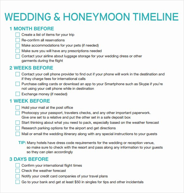 Wedding Reception Itinerary Template Inspirational Free 5 Sample Wedding Timeline Templates In Pdf Word