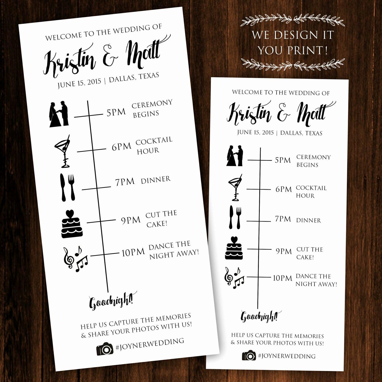 Wedding Reception Itinerary Template Lovely Pin by Amanda Seibert On the Wedddding