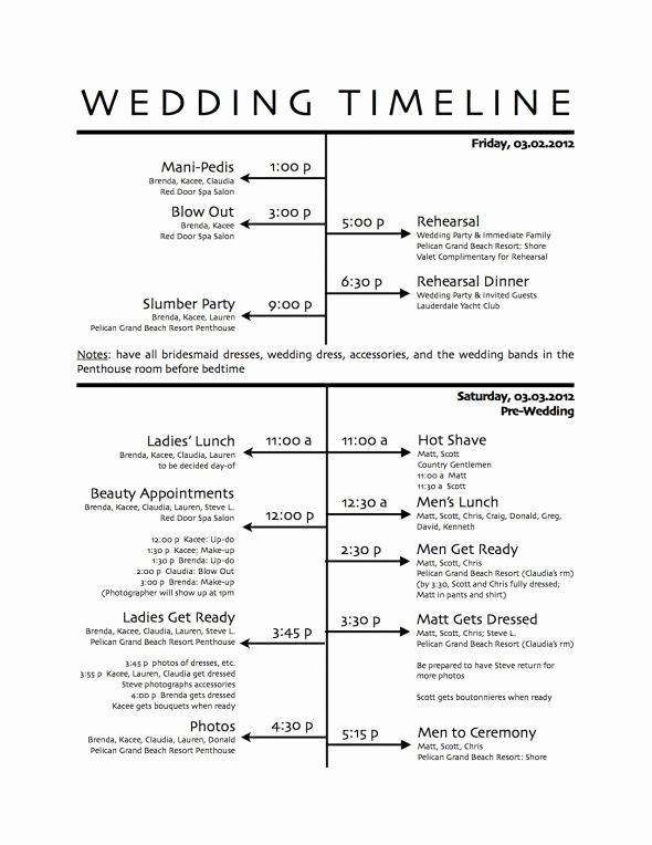 Wedding Reception Itinerary Template Unique How to Create A Wedding Reception Timeline