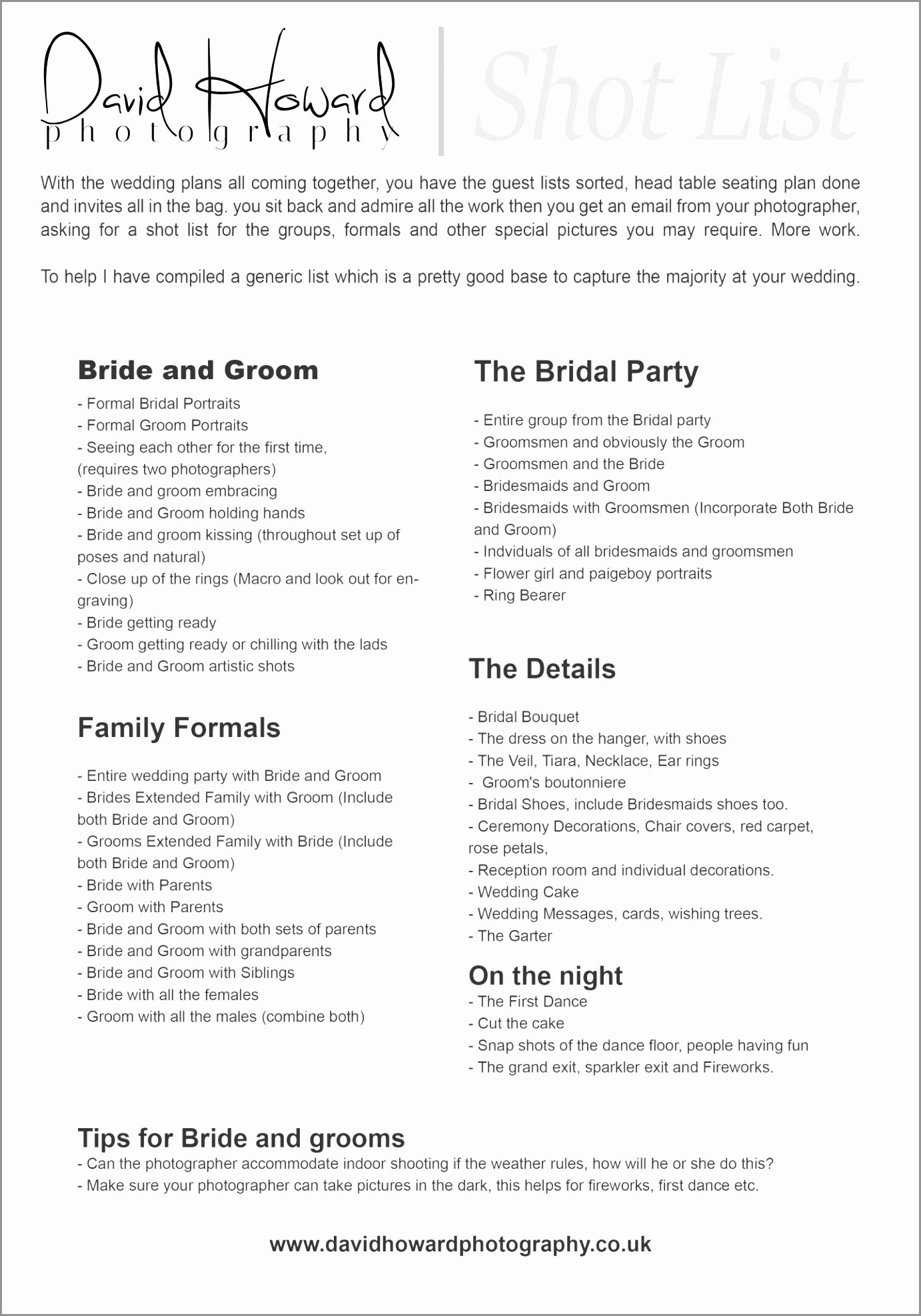 Wedding Shot List Template New Best 25 Wedding Graphy Checklist Ideas Pinterest
