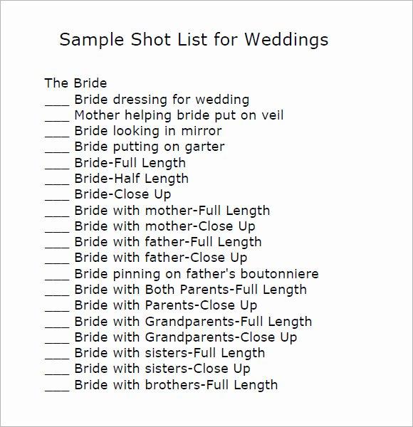 Wedding Shot List Template New Pin Loan Agreement Pdf On Pinterest