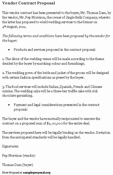 Wedding Vendor Contract Template Awesome Vendor Agreement Sample Free Printable Documents
