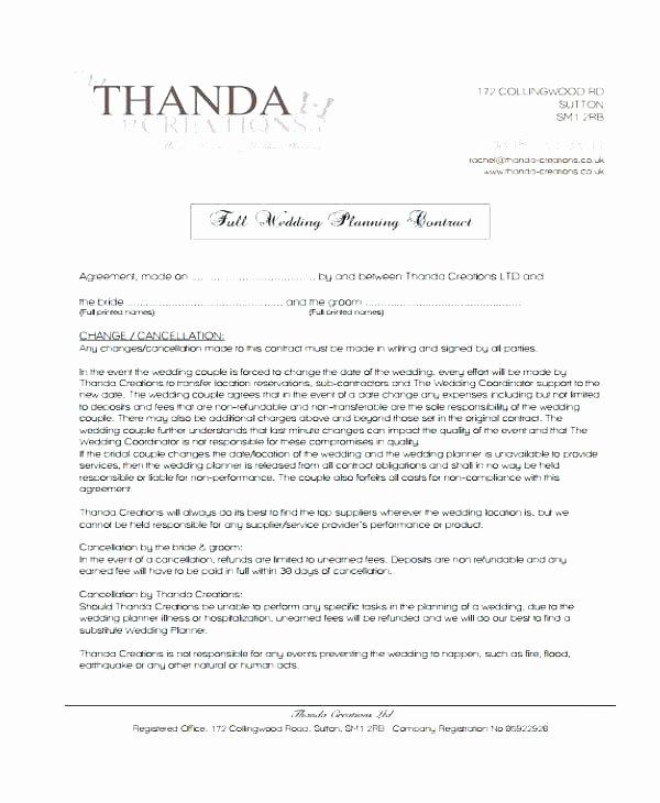 Wedding Vendor Contract Template Beautiful Simple Vendor Agreement Template – Viabcp