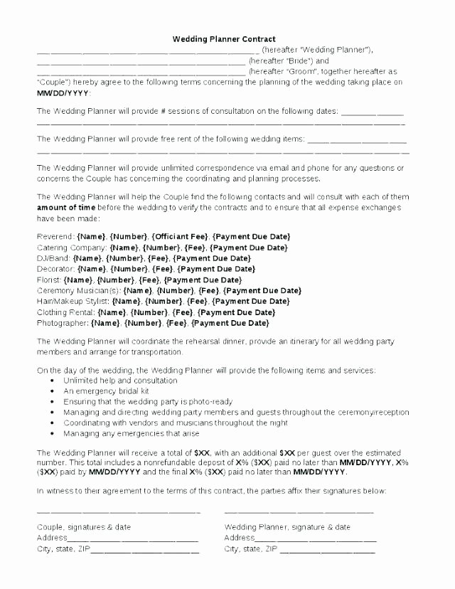 Wedding Vendor Contract Template New 8 9 Transport Agreement format In Word