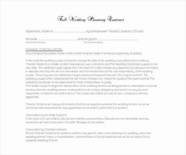 Wedding Venue Contract Template Elegant 18 Wedding Contract Templates Pdf Google Docs format