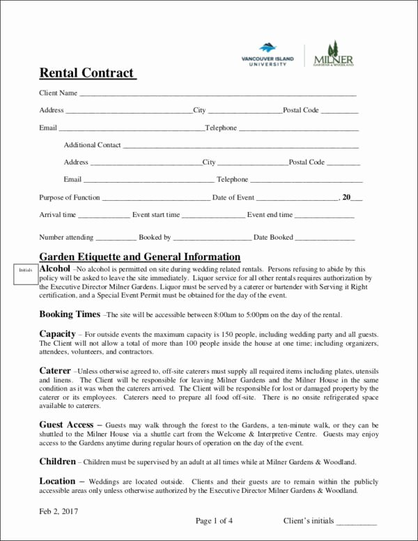 Wedding Venue Contract Template Elegant Free 14 Wedding Contract Samples In Word Pdf