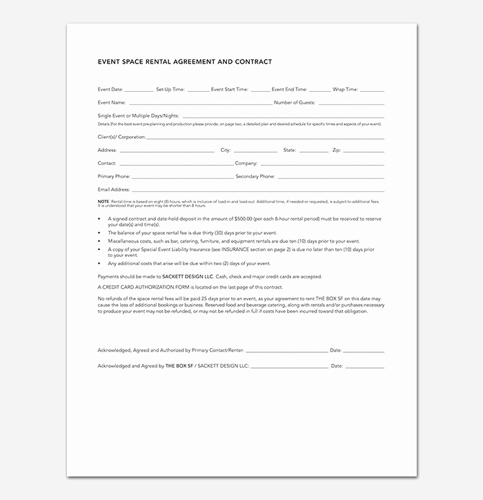 Wedding Venue Contract Template Fresh event Contract Template 19 Samples Examples In Word