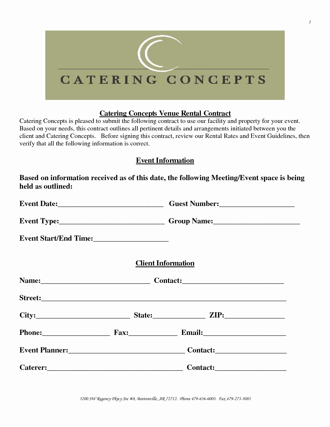 Wedding Venue Contract Template Inspirational Sample event Venue Contract
