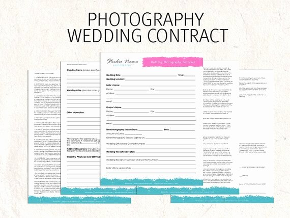 Wedding Video Contract Template Luxury Printable Sample Wedding Graphy Contract Template